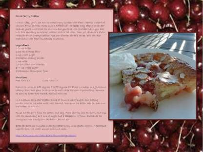 all recipes - cherry cobbler