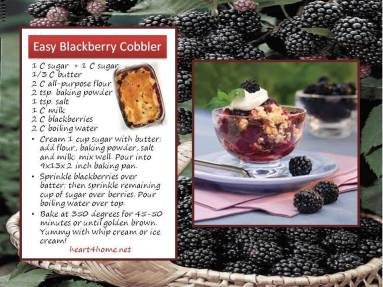 caryl kane blackberry cobbler