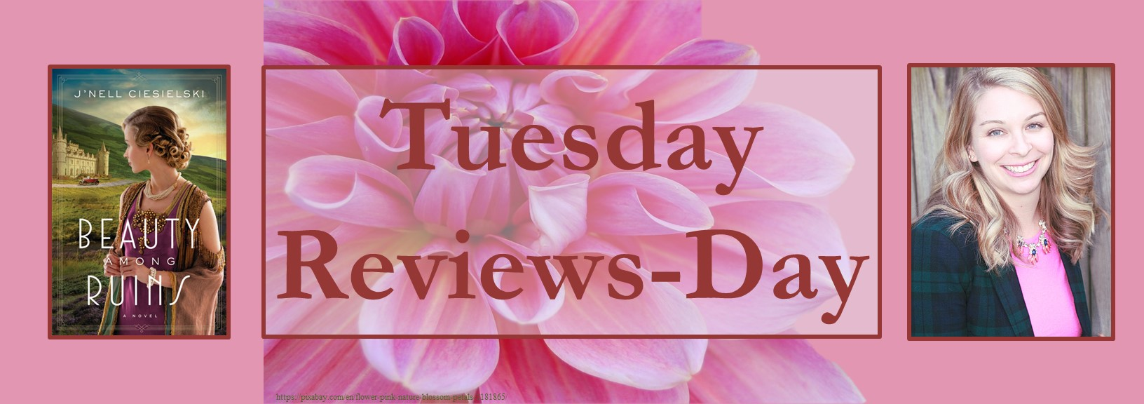 020221 - beauty among the runis - tuesday reviews day banner