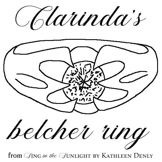 Clarinda's Belcher Ring Line Drawing
